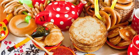 Holiday of the sun and spring. Pancake week in Dikanka