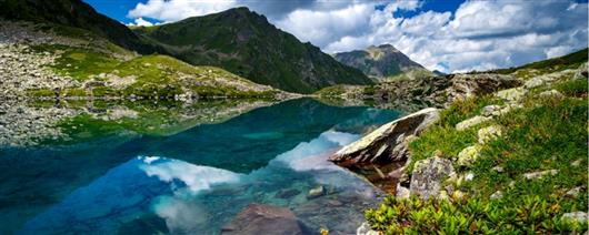Walking eco-tour to Arkhyz. Seven-color lake. New route