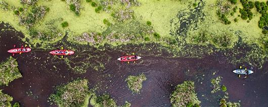 Rafting on the Irdynsky swamp and Tyasminsky canyon