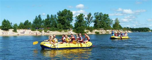 Rafting down the Desna