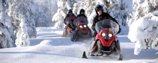 Первобытная Финляндия на снегоходах
